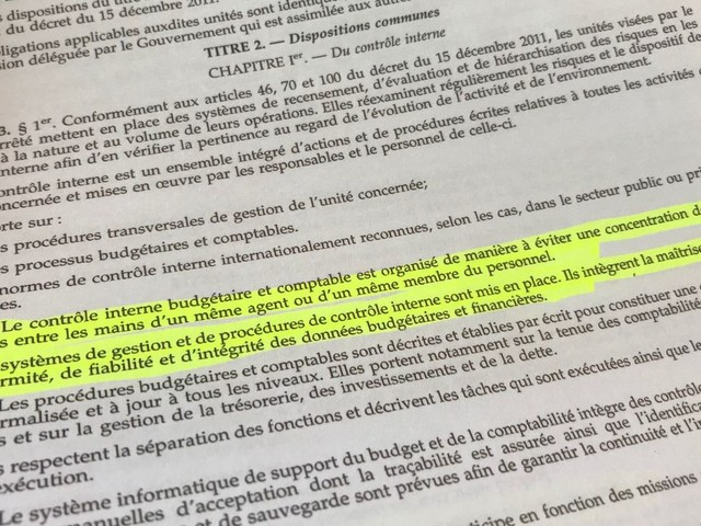 Détournement de fonds au Port autonome de La Louvière: contournement de la norme?