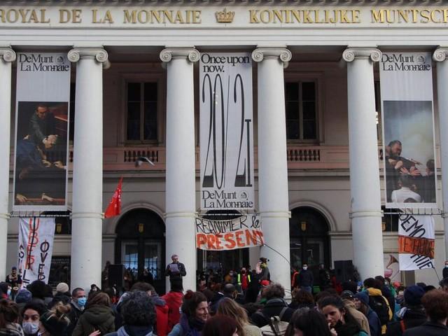 L'occupation de la Monnaie à Bruxelles s'achève ce dimanche soir