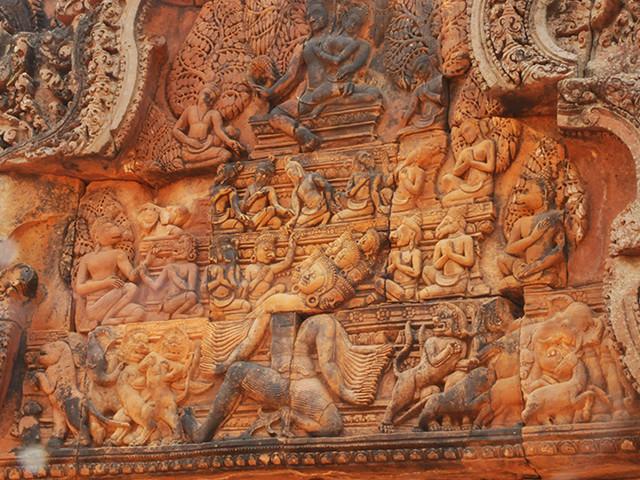 Le Banteay Srei, le temple rose d'Angkor