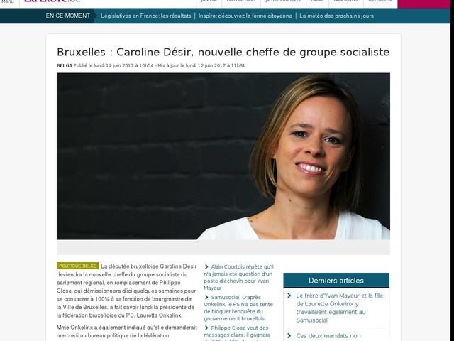 Bruxelles : Caroline Désir, nouvelle cheffe de groupe socialiste