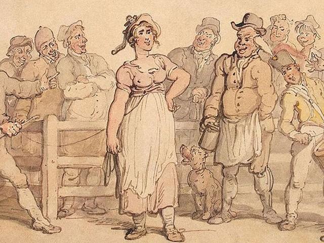 Au XIXe siècle, un mari anglais pouvait se débarrasser de sa femme en la vendant aux enchères