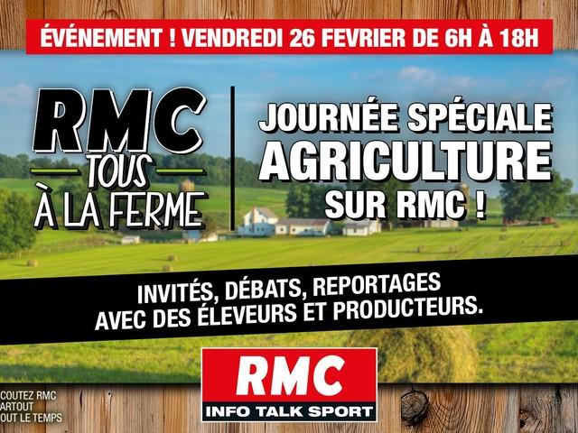 Une journée spéciale agriculture ce vendredi sur RMC.