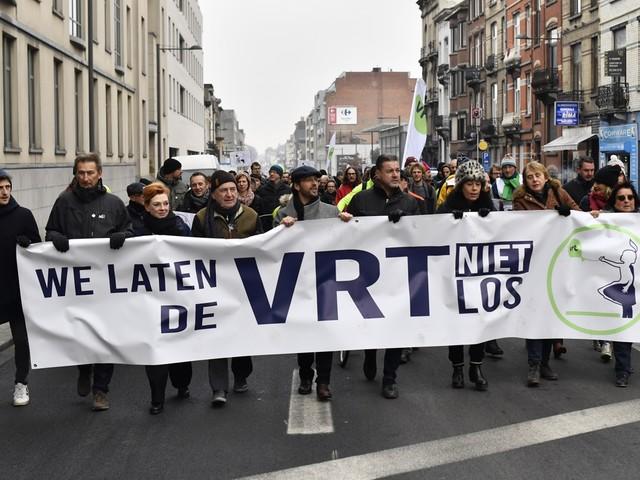 VRT-personeel voert actie: 'We laten de VRT niet los'