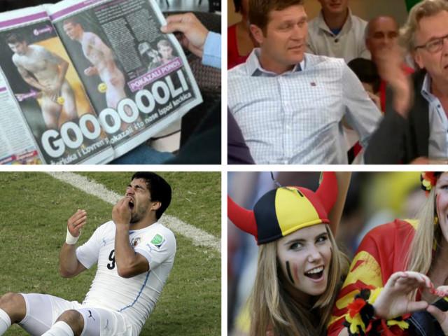 WK voetbal 2014: 'gilf' Jan Mulder, blote Kroaten en een enthousiaste Axelle