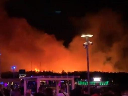 Un festival de hip-hop en Croatie interrompu par les flammes