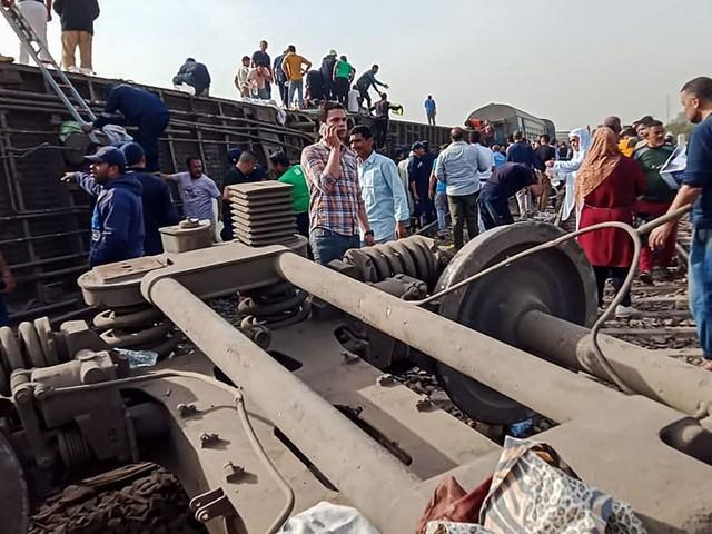 Égypte : près de 100 blessés dans un nouvel accident de train
