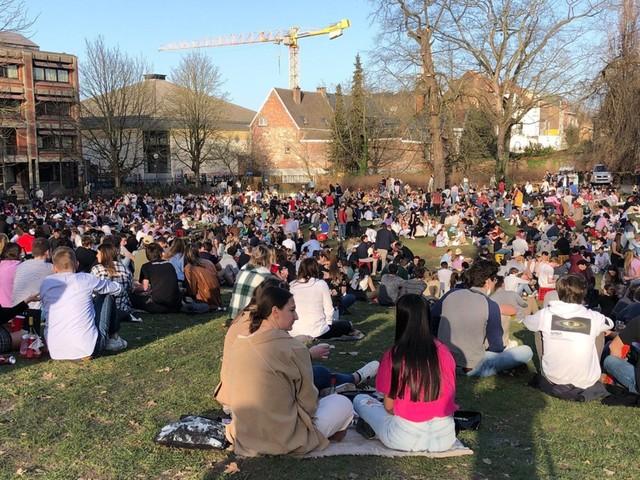 Stadspark Leuven ontruimd wegens grote drukte