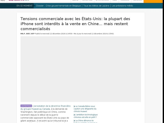 Tensions commerciale avec les États-Unis: la plupart des iPhone sont interdits à la vente en Chine… mais restent commercialisés