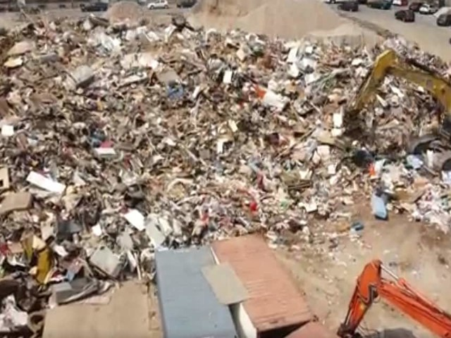 Les images impressionnantes, prises du ciel, des tonnes de déchets accumulés à Verviers