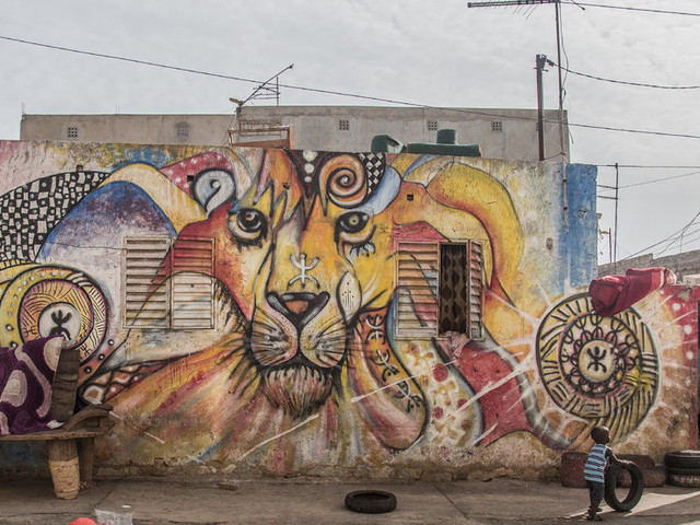 Who Needs Canvas? In Dakar, Street Artists Express Their Visions on Sides of Homes