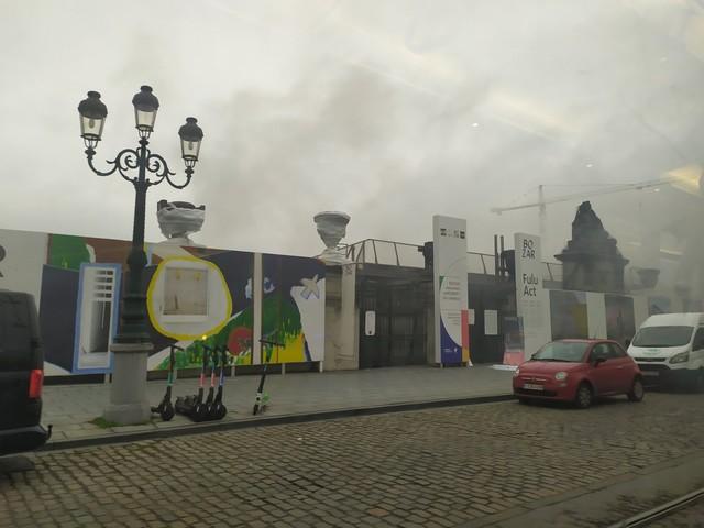Brandweer massaal ter plaatse voor brand aan Bozar
