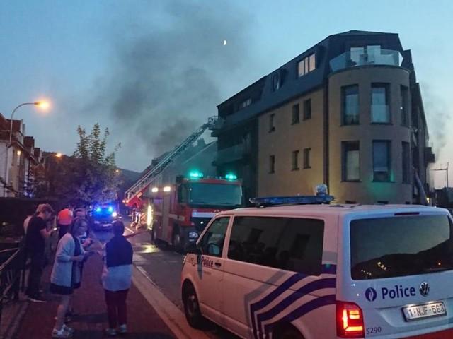 Sept personnes intoxiquées dans un incendie à Malmedy (vidéo)