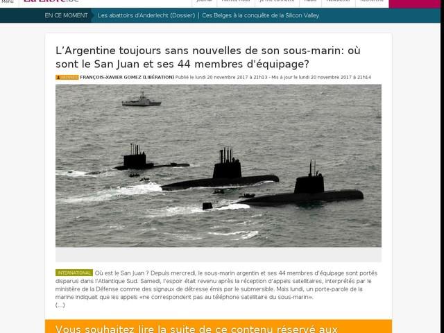 L'Argentine toujours sans nouvelles de son sous-marin: où sont le San Juan et ses 44 membres ...