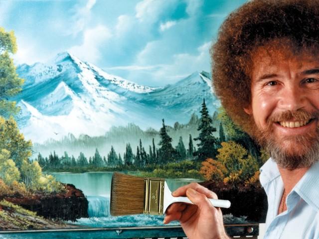 Bob Ross, de dode schilder met 3 miljoen volgers op YouTube, nu ook elke dag op tv
