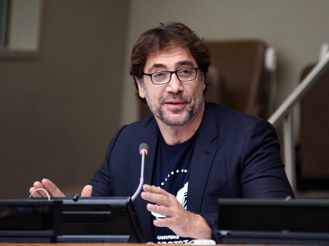 Javier Bardem vraagt in emotioneel betoog bij Verenigde Naties om oceanen te beschermen