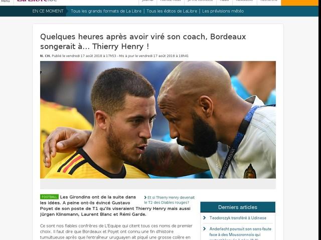 Quelques heures après avoir viré son coach, Bordeaux songerait à... Thierry Henry !