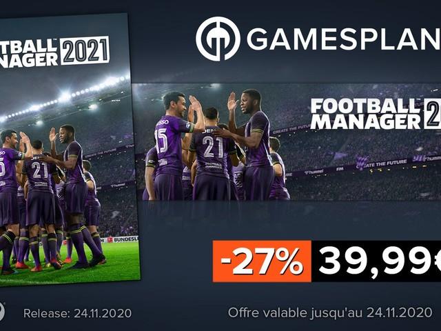 [Bon Plan] Football Manager 2021 à -27% et pluie de promotions chez Gamesplanet