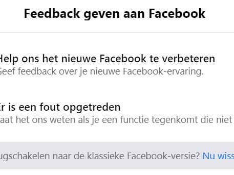Facebook: vanaf je september kan je het oude ontwerp niet langer gebruiken op desktop