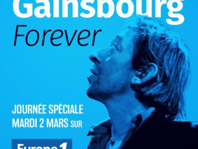Journée hommage à Serge Gainsbourg, mardi sur Europe 1.
