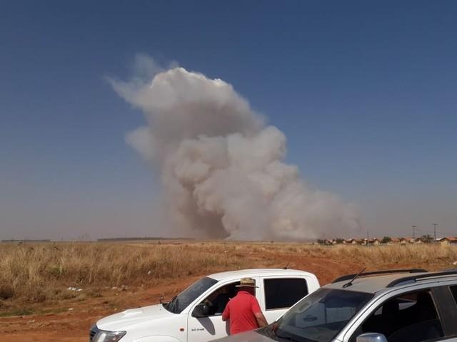 Produtores retiram fardos de algodão de lavouras antes do previsto em MT com medo de queimada destruir a produção
