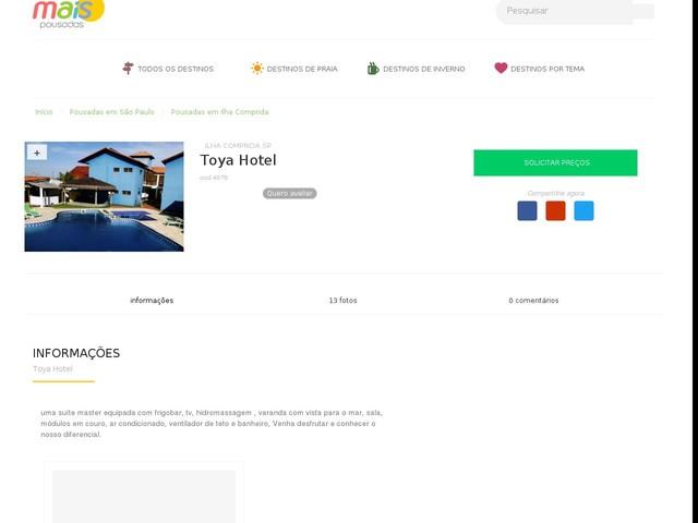 Toya Hotel - Ilha Comprida - SP