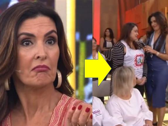 """No programa de Fátima Bernardes, homem engana mulher e acaba desmascarado em rede nacional: """"Canalha"""""""