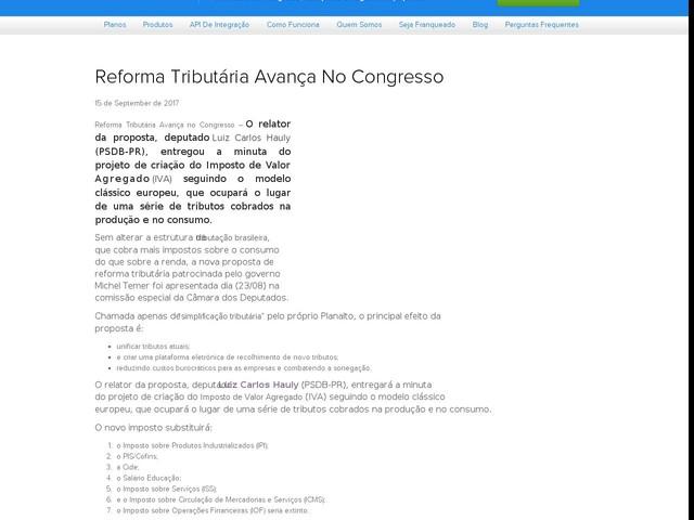 Reforma Tributária Avança No Congresso