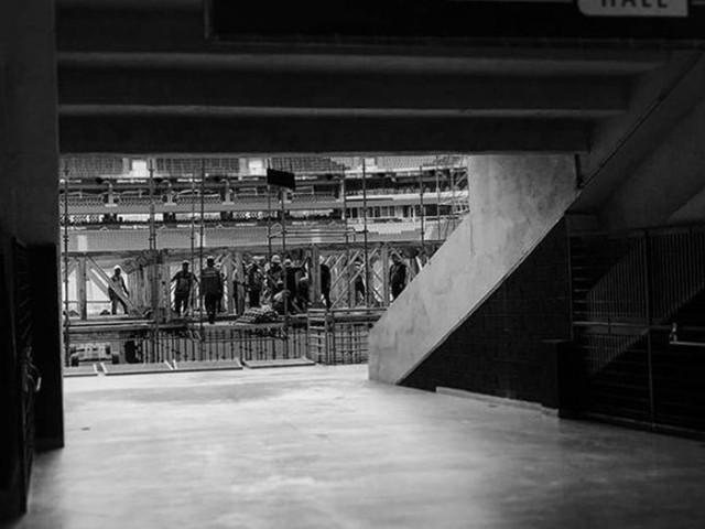 Começa a montagem de palco para o show de Sandy e Junior em São Paulo