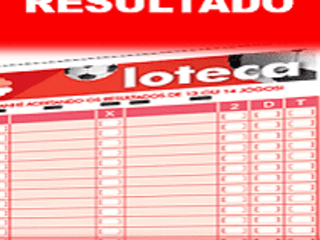 Loteca 833 resultado dos 14 jogos