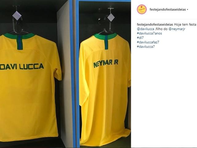 """Festa de aniversário do filho de Neymar tem Marquezine e tema """"seleção"""""""