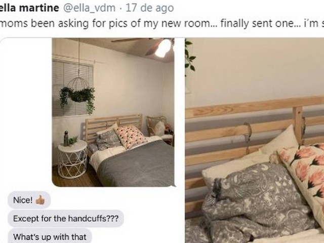 Cantora manda foto do quarto para a mãe, mas se esquece de retirar 'apetrecho'