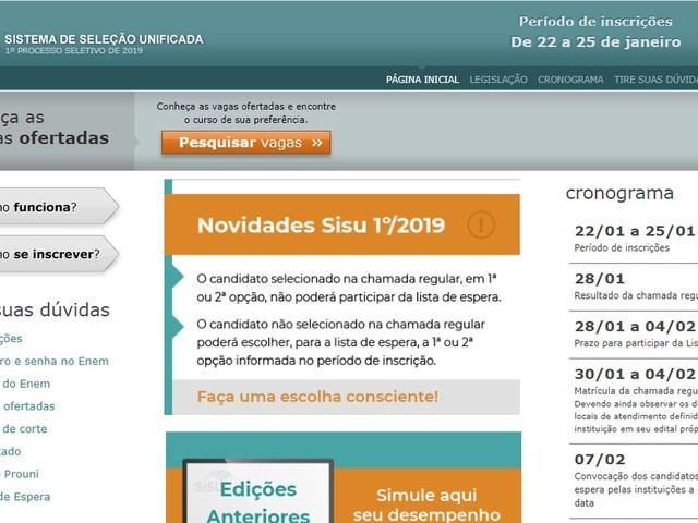 Confira o calendário de inscrições do Sisu e as vagas disponíveis no Tocantins
