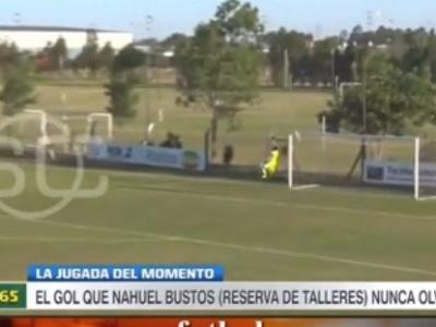 Argentino acerta um golaço do meio campo em torneio de reservas