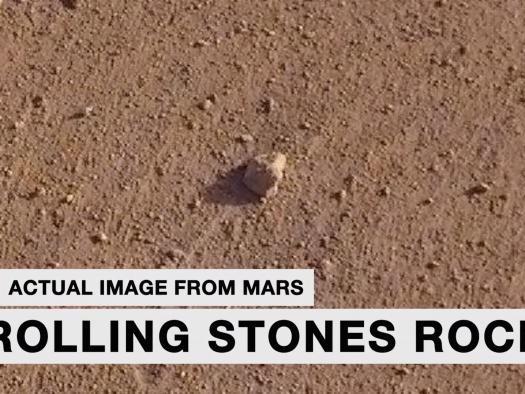 NASA decide nomear rocha em Marte homenageando os Rolling Stones
