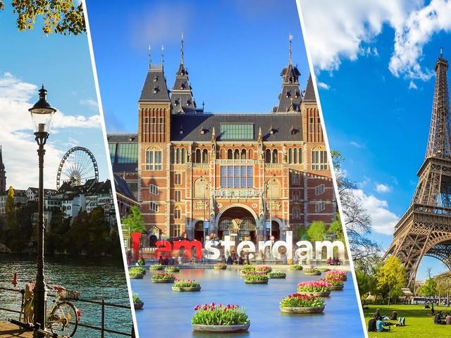 Últimas vagas! Passagens 3 em 1 com Paris, Amsterdã e Suíça na mesma viagem a partir de R$ 2.238 voando Air France-KLM!
