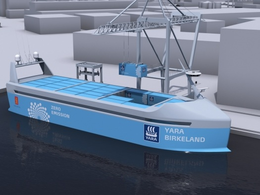 Navio elétrico de carga vai cruzar os mares de forma autônoma