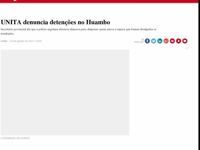 UNITA denuncia detenções no Huambo