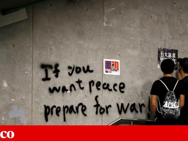 Em Hong Kong houve protestos sem cair na armadilha da violência