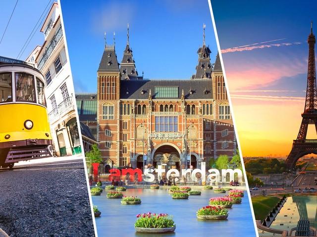 Europa 3 em 1! Passagens para Lisboa mais Paris e Amsterdã na mesma viagem a partir de R$ 2.334!