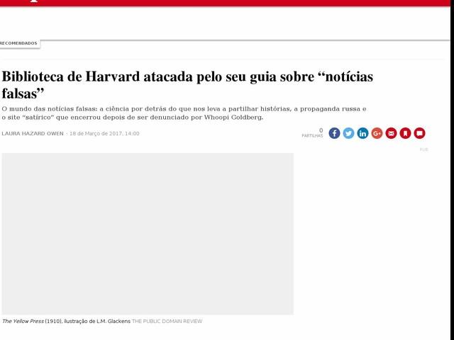 """Biblioteca de Harvard atacada pelo seu guia sobre """"notícias falsas"""""""