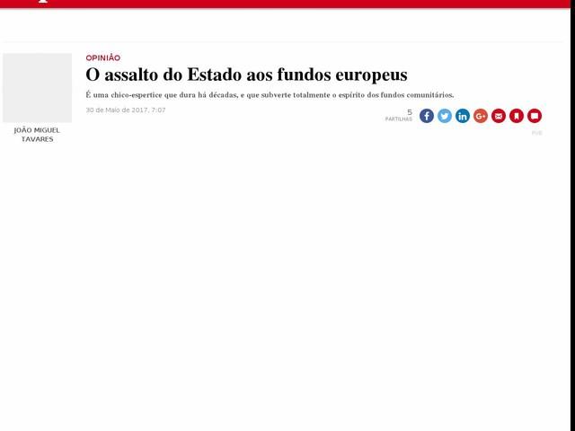 O assalto do Estado aos fundos europeus