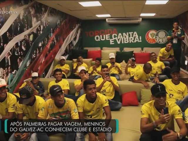 Confira a visita do Galvez no Allianz Parque