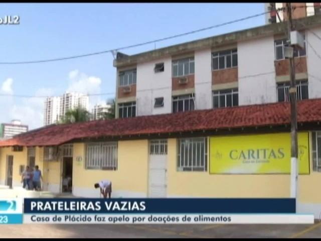 Falta de doações de alimentos pode prejudicar ajuda a romeiros do Círio na Casa de Plácido, em Belém