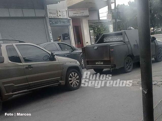Flagra mostra que nova Fiat Strada terá mesmo porte da antiga geração