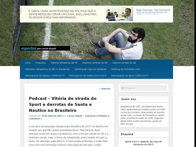 Podcast – Vitória de virada do Sport e derrotas de Santa e Náutico no Brasileiro