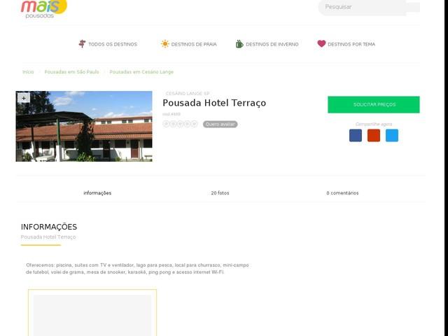 Pousada Hotel Terraço - Cesário Lange - SP