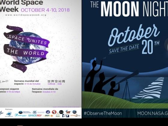 Octubre: Semana del Espacio y noche de la Luna