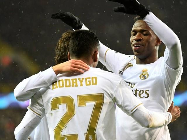 Jovens brasileiros comandam Real Madrid em vitória sobre o Bruges