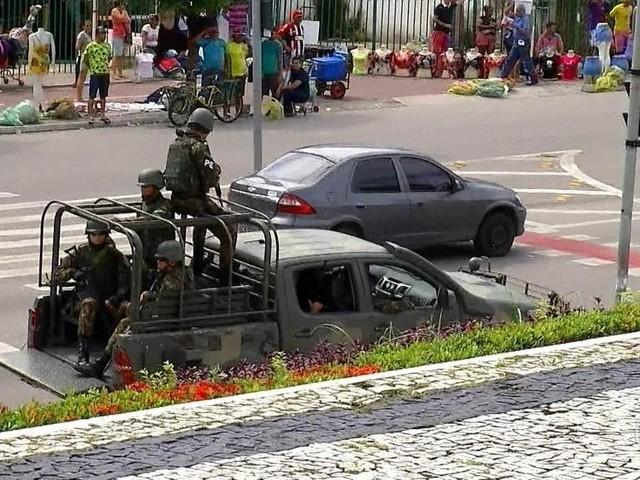 Exército vai mandar mais homens para reforçar a segurança no estado do Ceará