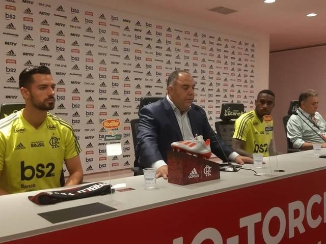 Antes de assinar com Filipe Luís, Flamengo apresenta Gérson e Pablo